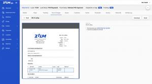 digital document management in broker software showing bill of lading