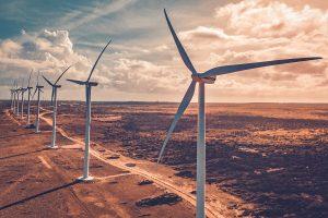 wind turbines creating sustainable energy